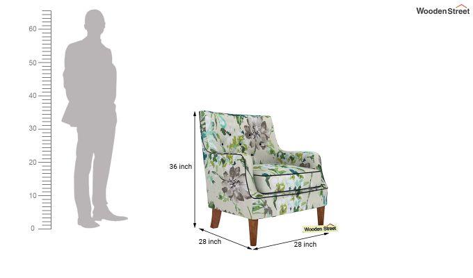 Adoree Arm Chair (Aqua Flower)-4