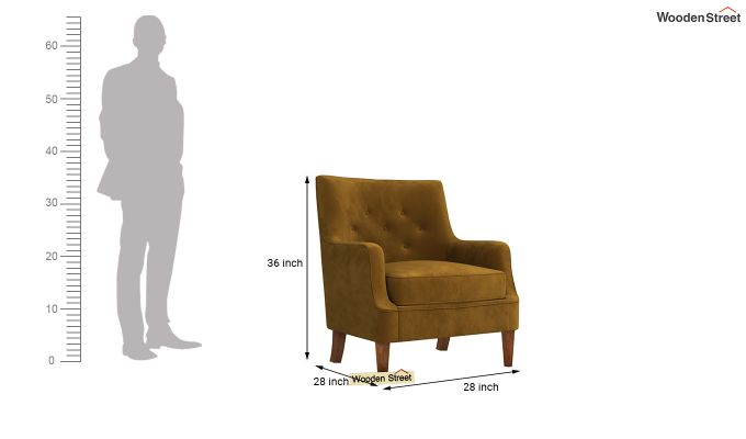 Adoree Arm Chair (Chestnut Brown)-4