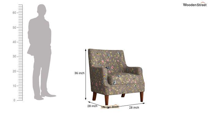 Adoree Arm Chair (Grey Robins)-4