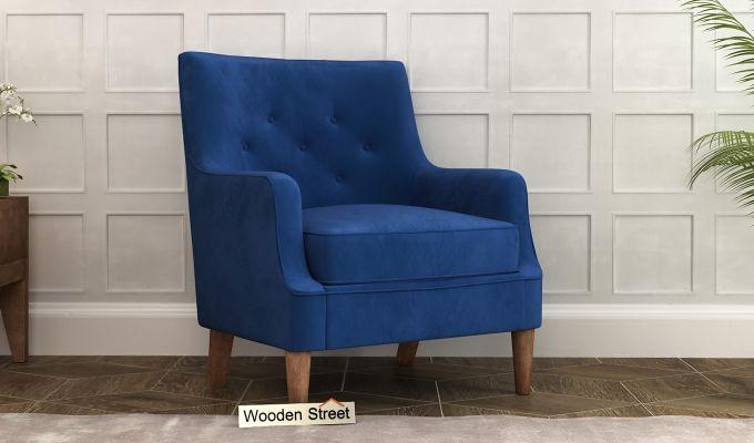 Adoree Arm Chair (Indigo Blue)-1