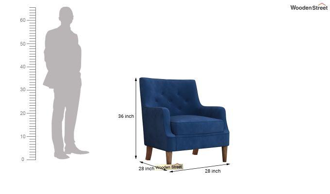Adoree Arm Chair (Indigo Blue)-4