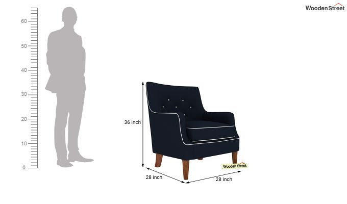 Adoree Arm Chair (Indigo Ink)-4