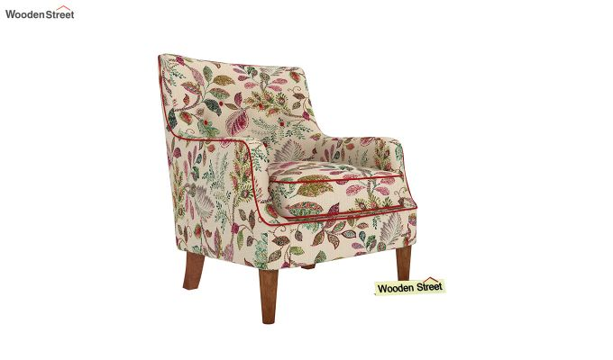 Adoree Arm Chair (Rosy Leaf)-2