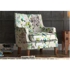Adoree Lounge Chair (Aqua Flower)
