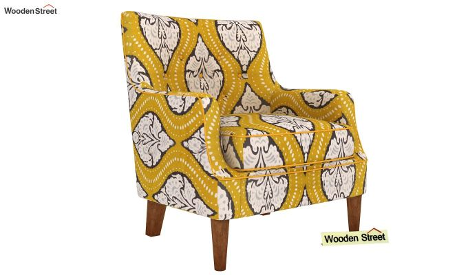 Adoree Lounge Chair (Mustard Coral)-2