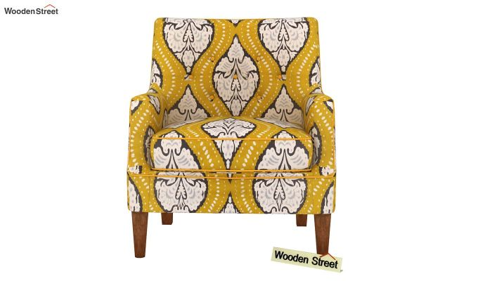 Adoree Lounge Chair (Mustard Coral)-3