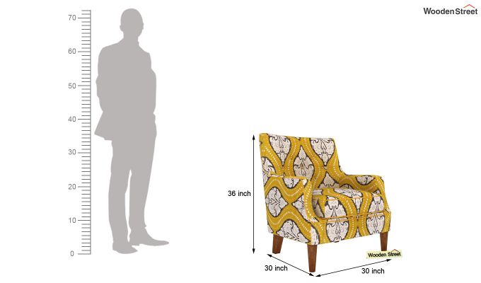 Adoree Lounge Chair (Mustard Coral)-4