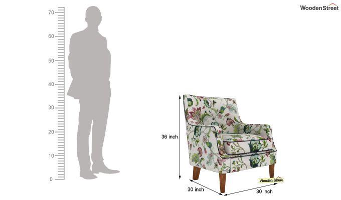 Adoree Lounge Chair (Rose Vineyard)-4