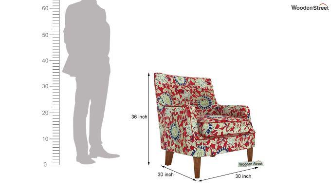Adoree Lounge Chair (Scarlet Blue)-4