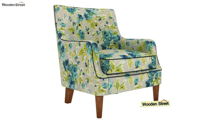 Adoree Lounge Chair (Teal Tulip)-2