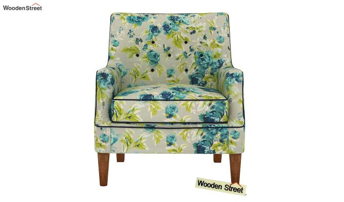 Adoree Lounge Chair (Teal Tulip)-3