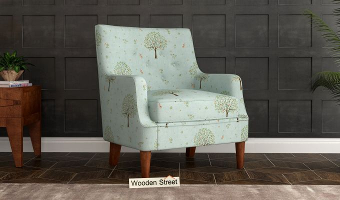Adoree Arm Chair (Teal Pomme)-1