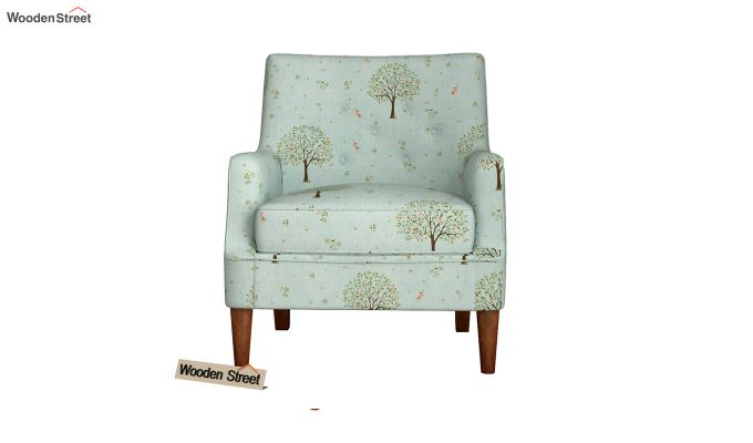Adoree Lounge Chair (Teal Pomme)-3