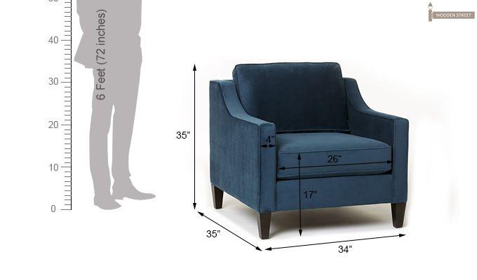 Aherne Wingback Chair (Aqua Marine)-6
