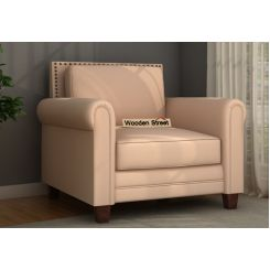 Aldean 1 Seater Fabric Sofa (Irish Cream)