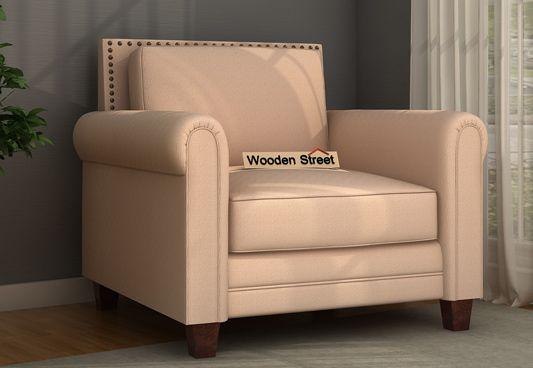 Aldean 1 Seater sofa set Cream