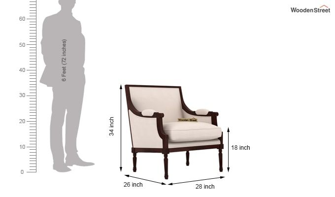 Alpina Lounge Chair (Ivory Nude)-4