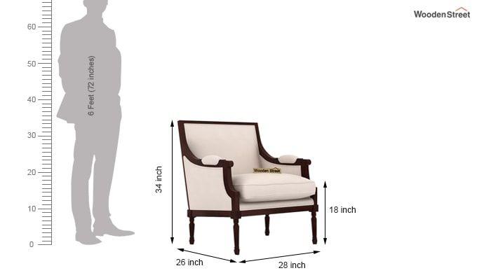Alpina Lounge Chair (Ivory Nude)-4