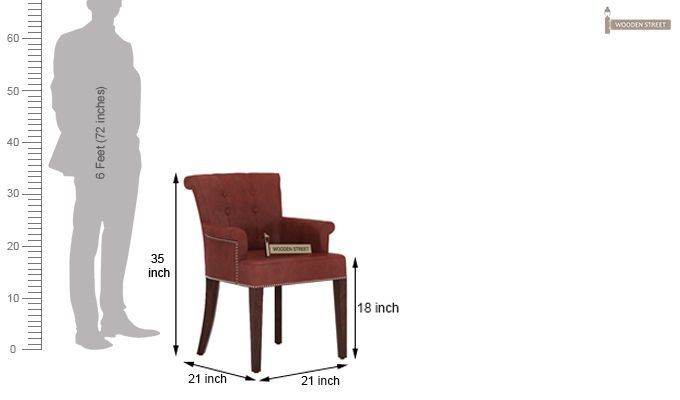 Altra Dining Chair (Leatherette, Burnt Umber)-4