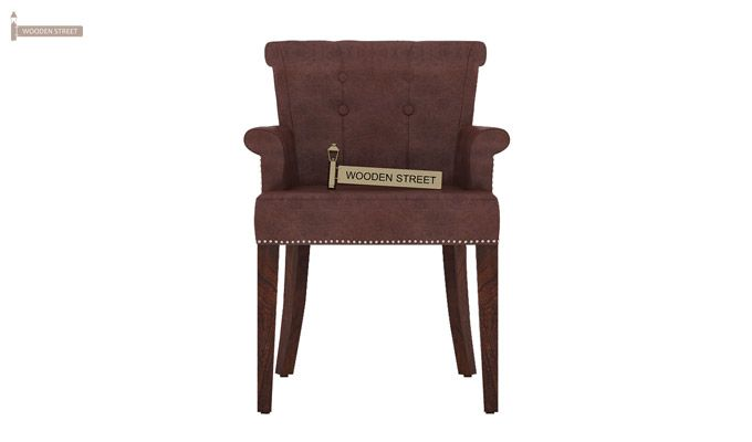 Altra Dining Chair (Leatherette, Dark Chocolate)-2
