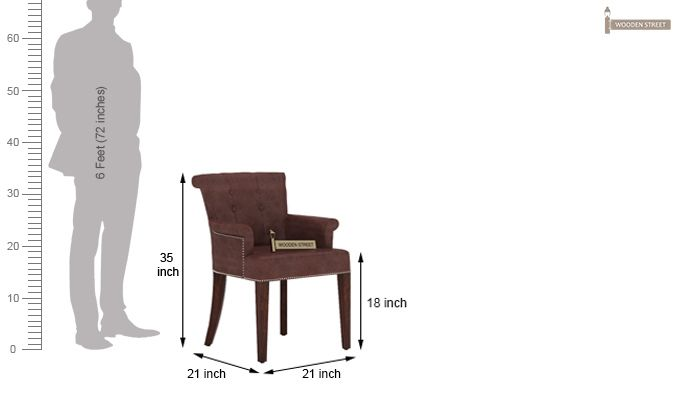Altra Dining Chair (Leatherette, Dark Chocolate)-4