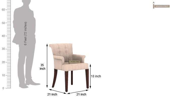 Altra Dining Chair (Leatherette, Rose White)-4