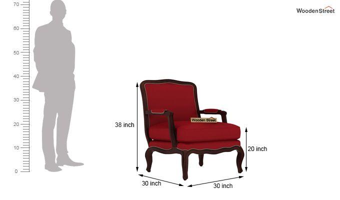 Alves Lounge Chair (Dusky Rose)-4
