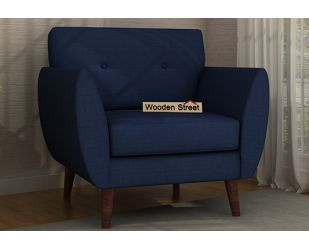 Angela 1 Seater Sofa (Fabric, Indigo Ink)