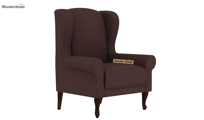 Ariel Wingback Chair (Fabric, Classic Brown)-2