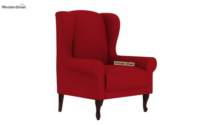 Ariel Wingback Chair (Fabric, Dusky Rose)-2