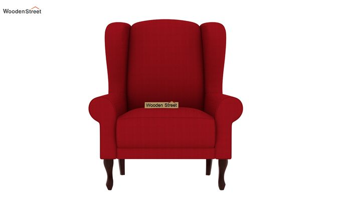 Ariel Wingback Chair (Fabric, Dusky Rose)-3