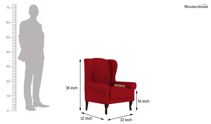 Ariel Wingback Chair (Fabric, Dusky Rose)-4