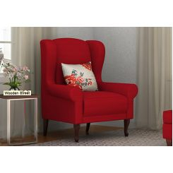 Ariel Wingback Chair (Fabric, Dusky Rose)