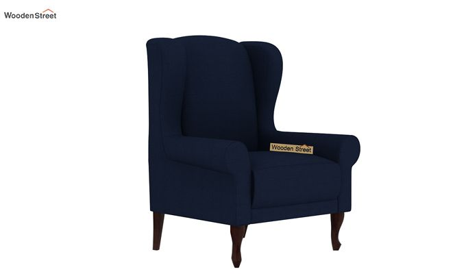 Ariel Wingback Chair (Fabric, Indigo Ink)-2