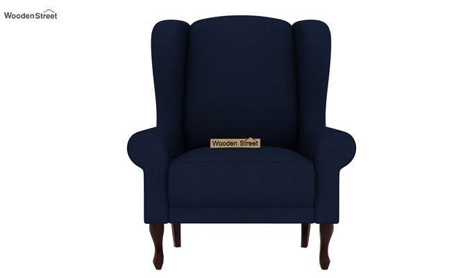 Ariel Wingback Chair (Fabric, Indigo Ink)-3