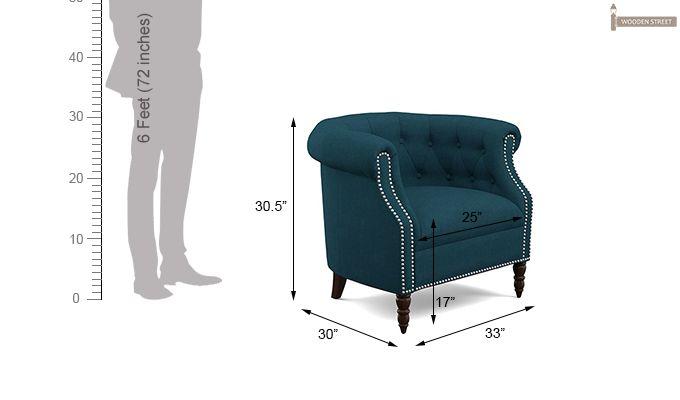 Arnaz Lounge Chair (Ocean)-5