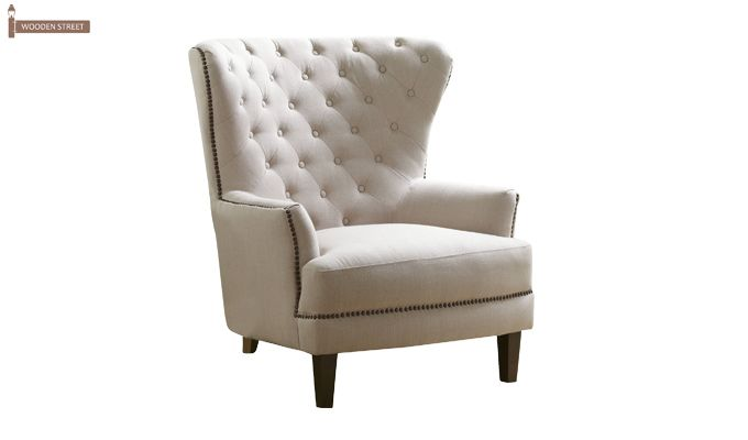 Arzner Wingback Chair (Cream)-3