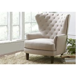 Arzner Wingback Chair (Cream)