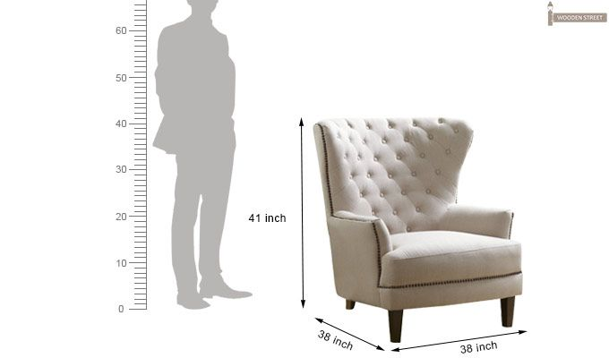 Arzner Wingback Chair (Cream)-4