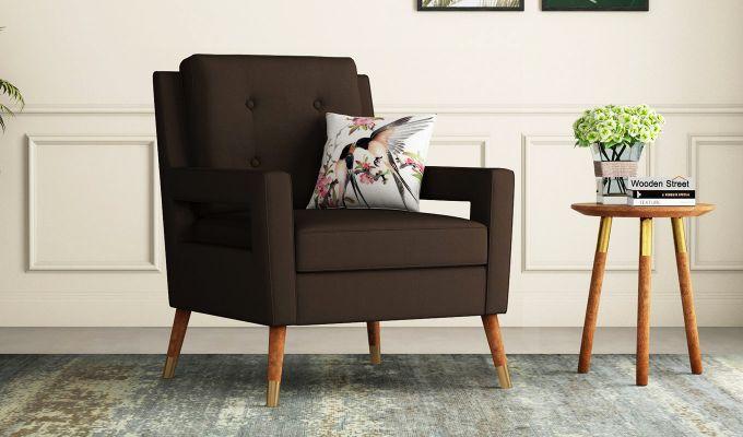 Boris Lounge Chair (Fabric, Classic Brown)-1