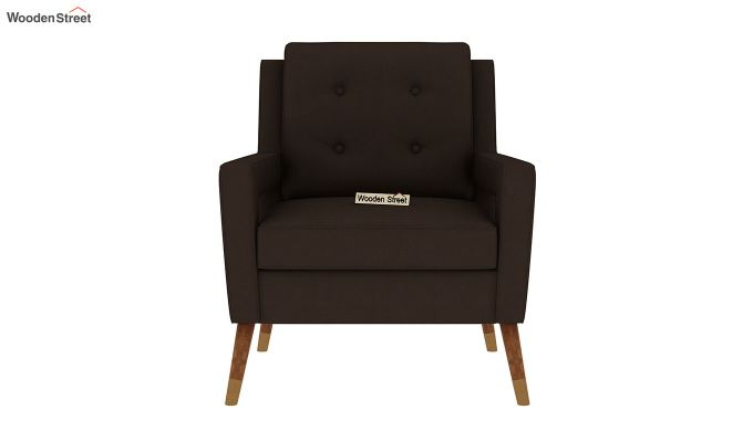 Boris Lounge Chair (Fabric, Classic Brown)-3