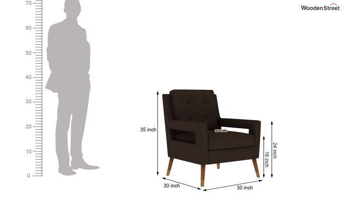 Boris Lounge Chair (Fabric, Classic Brown)-5