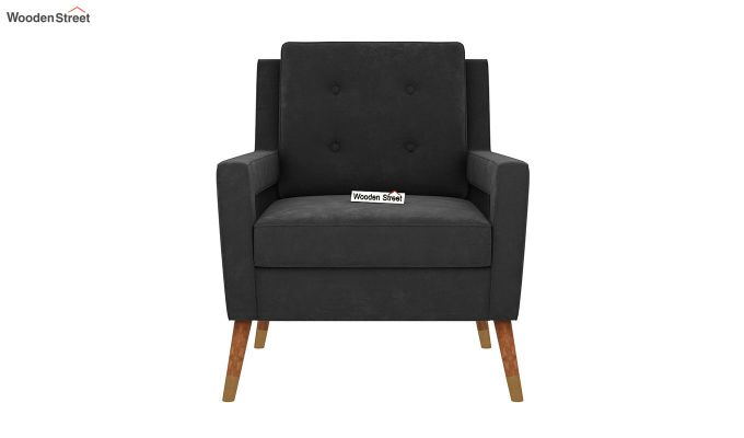 Boris Arm Chair (Velvet, Graphite Grey)-3