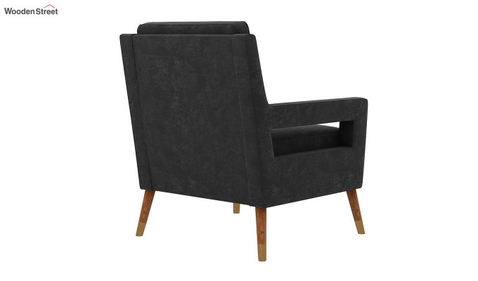 Boris Arm Chair (Velvet, Graphite Grey)-4
