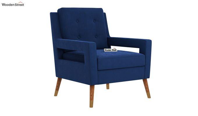 Boris Arm Chair (Velvet, Indigo Blue)-2