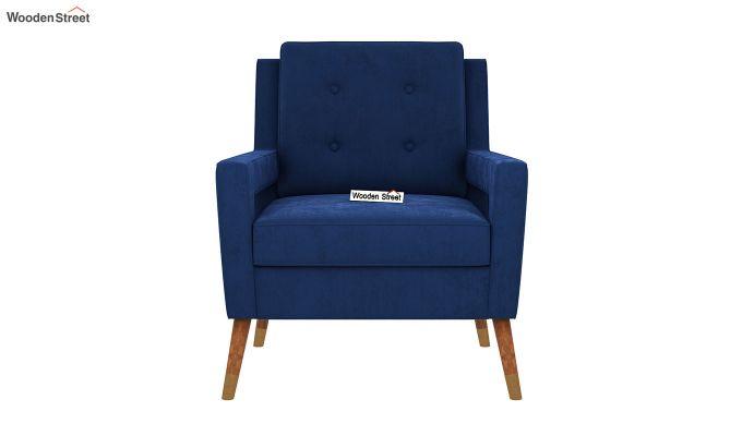 Boris Lounge Chair (Velvet, Indigo Blue)-3