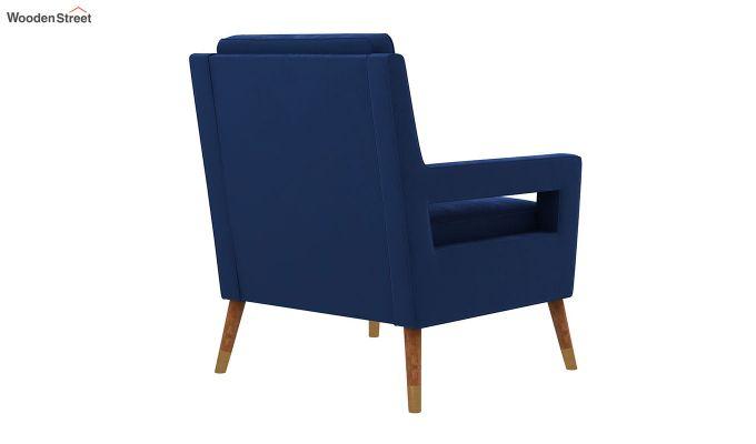 Boris Lounge Chair (Velvet, Indigo Blue)-4