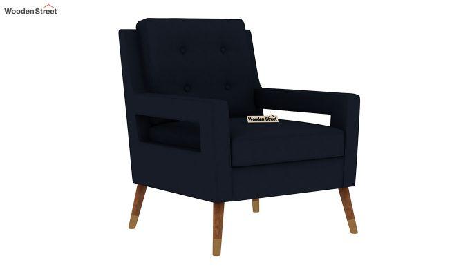 Boris Arm Chair (Fabric, Indigo Ink)-2