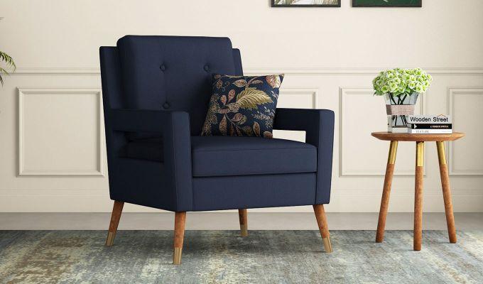 Boris Arm Chair (Fabric, Indigo Ink)-1