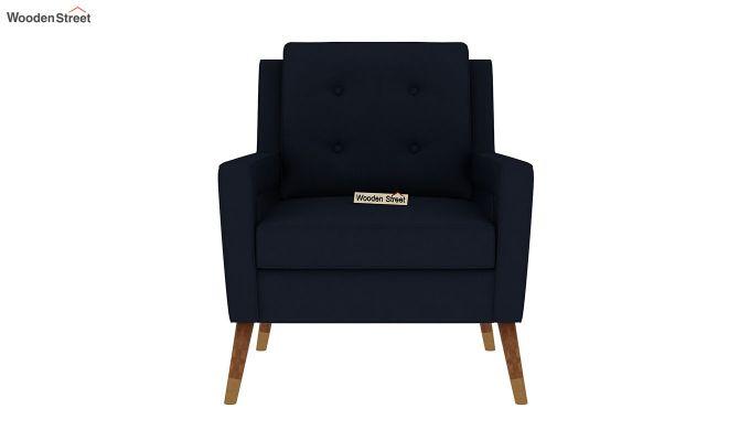 Boris Arm Chair (Fabric, Indigo Ink)-3